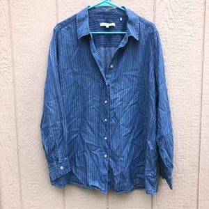Foxcroft NYC striped blouse size 18W
